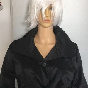 Ralph Lauren Black Satinteen Coat Jacket M